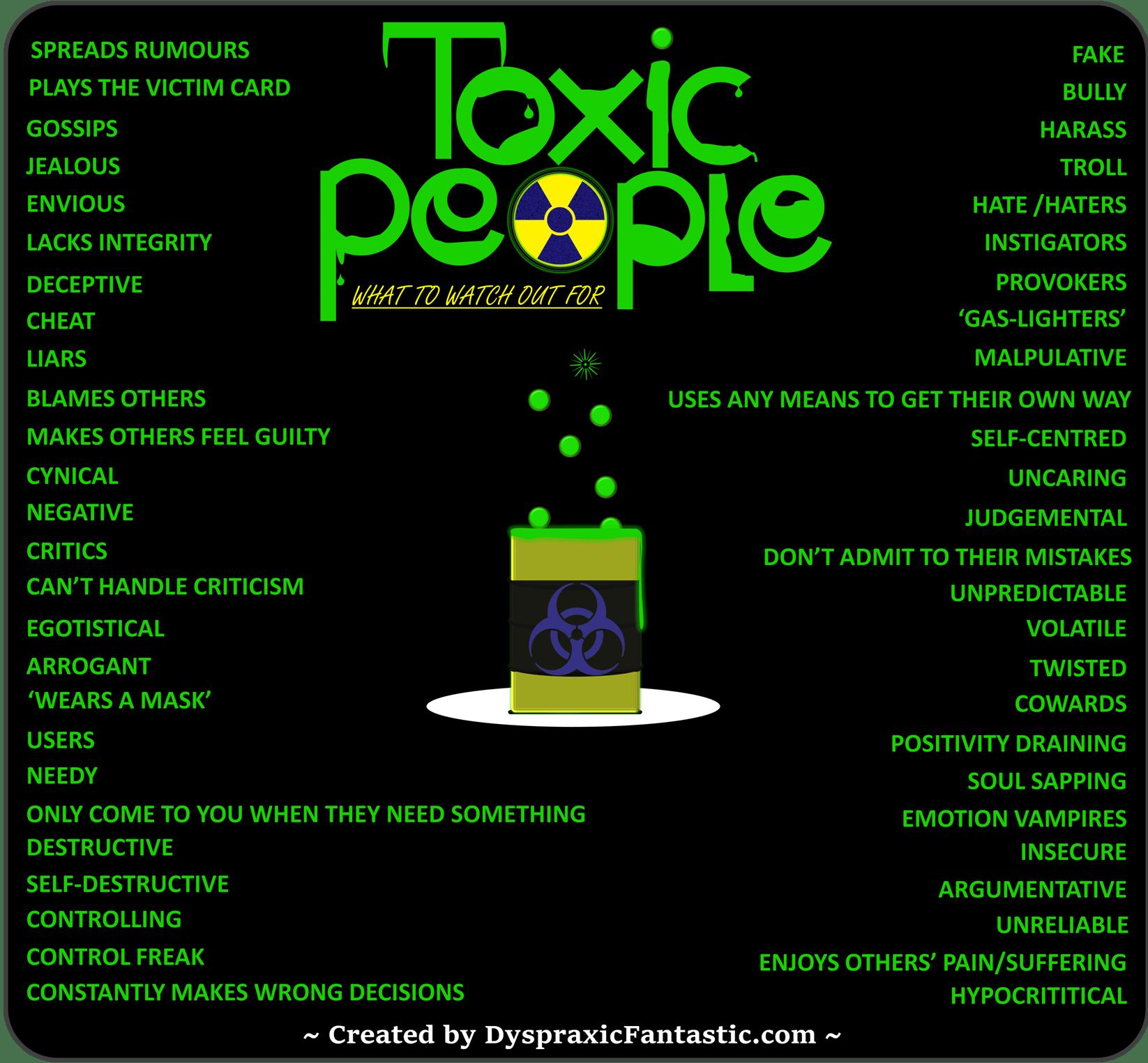 Toxic People Chart